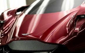 Picture Aston Martin, Red, Auto, Machine, Gran Turismo Sport