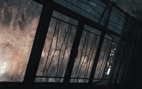 Picture the evening, window, corridor