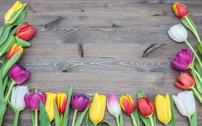 Picture flowers, bouquet, colorful, tulips, love, pink, wood, pink, flowers, beautiful, romantic, tulips, spring, purple