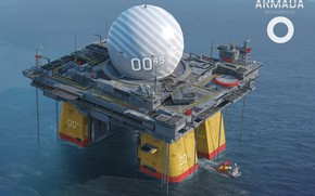Picture ball, base, platform, waters, ARMADA