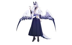 Picture wings, tail, guy, ears, youkai, by kiborik