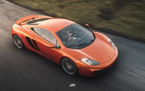 Picture McLaren, Microsoft, MP4-12C, game art, Forza Horizon 4, by Wallpy