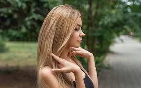 Picture girl, street, hair, blonde, A Diakov George