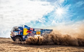 Picture The sun, Sand, Auto, Sport, Machine, Speed, Truck, Race, Master, Russia, Kamaz, Rally, Dakar, KAMAZ-master, …