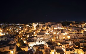 Picture night, Italy, Matera