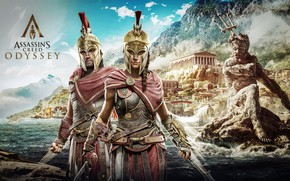 Picture game, Kassandra, Ubisoft, Assassin's Creed, Odyssey, Assassin's Creed Odyssey, Alexios