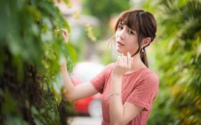 Picture girl, pose, Asian, cutie, bokeh