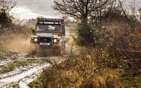 Picture Dirt, Land Rover, Yellow, SUV, Defender, Land Rover, 2021, 405 л.с., Defender Works V8 Trophy