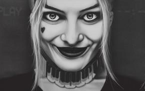 Picture Girl, Face, Eyes, Fantasy, Art, Harley Quinn, Illustration, Harley Quinn, DC comics, Play, Harley, VHS, …