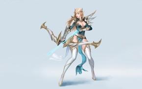 Picture Arrow, Huntress, Magic, Elf, Background, Girl, Archer, Art, Minimalism, Maxi Hoy, Style