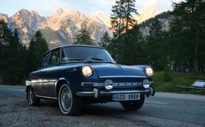 Picture 1968, Mountains, Slovenia, Road, Skoda, Alps, Slovakia, Skoda, Czech Republic, Alps, Classic Car, Czechia, Skoda …