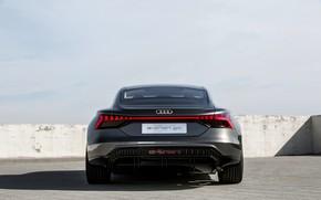 Picture Audi, coupe, rear view, 2018, e-tron GT Concept, the four-door