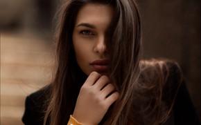 Picture girl, black, jacket