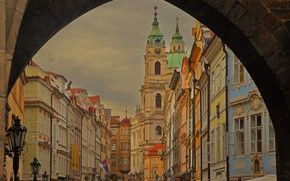 Picture home, Prague, Czech Republic, arch, Mala Strana