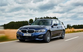 Picture clouds, BMW, 3-series, universal, dark blue, 3P, 2020, G21, 330d xDrive Touring