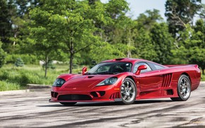 Picture Greens, Road, Saleen, Lights, Drives, Supercar, 2005, Twin Turbo, Saleen S7 Twin Turbo