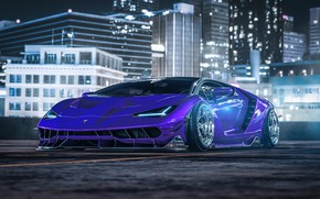 Picture Auto, Night, The city, Lamborghini, Machine, Car, Art, Render, Design, Supercar, Supercar, Sports car, Hypercar, …
