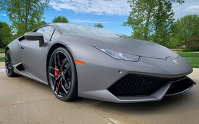 Picture grey, sports car, Huracan, Lamborghini Huracan