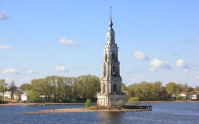 Picture Russia, the bell tower, The belfry of St. Nicholas Cathedral, Kalyazin
