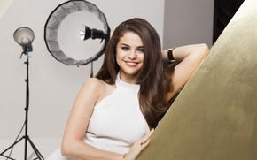 Picture look, girl, pose, smile, hair, portrait, beautiful, Selena Gomez, Pantene