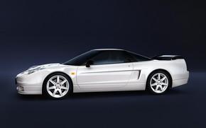 Picture White, Machine, Honda, Car, Render, Rendering, Side view, Honda NSX, White color, Transport & Vehicles, …