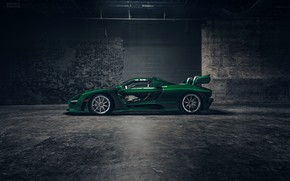 Picture McLaren, supercar, side view, 2018, Senna, MSO, Fux Green