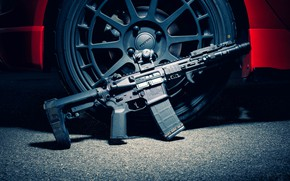 Picture weapons, background, assault rifle