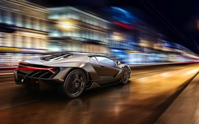 Picture Auto, The city, Lamborghini, Machine, Speed, Car, Art, Render, Design, Speed, Supercar, Supercar, Sports car, …