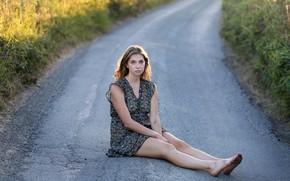 Picture road, look, girl, legs