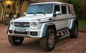 Picture sand, car, white, Mercedes-Benz, large, SUV, Mercedes, white, pickup, wheel, 4x4, G-Class, Mercedes Maybach, Mercedes-Maybach …