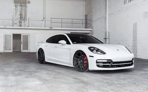Picture Porsche, Panamera, White, VAG, Sight