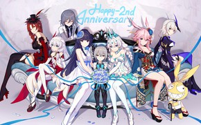 Picture girls, the game, group, anime, characters, Honkai Impact 3rd