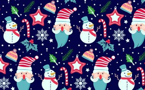 Picture winter, blue, background, holiday, texture, Winter, pattern