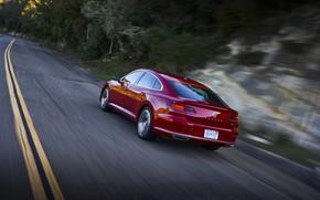 Picture red, speed, Volkswagen, liftback, Arteon, 2019, SEL Premium R-Line