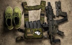 Picture gun, ammunition, assault rifle
