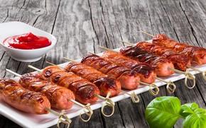 Picture sausage, sauce, sausage