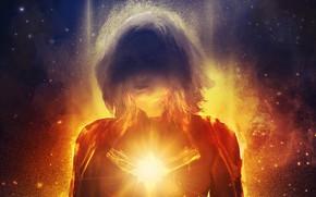 Picture girl, background, fiction, art, costume, comic, MARVEL, Carol Danvers, Captain Marvel, Captain Marvel