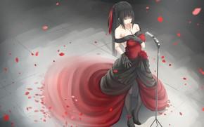 Picture girl, rose, singer, Kikivi