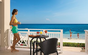 Picture beach, summer, children, the ocean, stay, family, resort, terrace, Montego Bay, Sun Club Deluxe