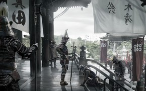 Picture Asia, Japan, army, soldiers, warriors, banners, samurai, David Benzal, Asia Legends