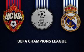 Picture wallpaper, sport, logo, football, Real Madrid, UEFA Champions League, CSKA Moscow vs Real Madrid, CSKA …