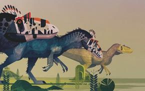 Picture Minimalism, Style, Dinosaur, Art, Art, Style, Dinosaurs, Giants, The Jurassic period, Atlas of the dinosaurs, …
