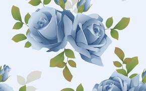 Picture background, roses, blue