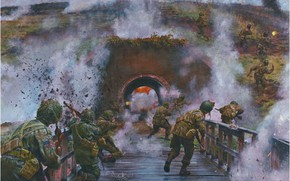 Picture war, the tunnel, the battle, us army, WW2