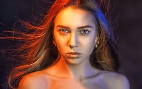 Picture girl, face, portrait, Alexander Drobkov-Light, Zavarzin Angelica