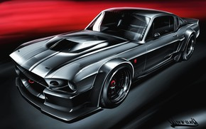Picture Ford, Shelby, GT500, Auto, Figure, Machine, Eleanor, Art, 1967, Vehicles, Transport, Transport & Vehicles, Andreas ...