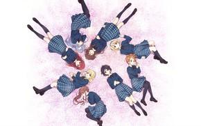 Picture girls, School Uniform, Miyako Kono, 22/7, Sakura Fujima, Akane Maruyama, Jun Toda, Reika Sato, Ayaka …