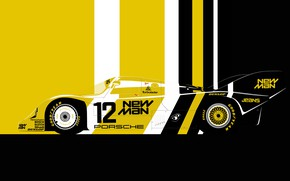 Picture sport car, lemans, 1983 Porsche 956