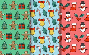 Picture background, holiday, texture, cookies, snowmen