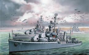 Picture Destroyer, US NAVY, US NAVY, USS Lansdowne, the USS Gleaves type, USS Buchanan, DD-484, DD-486, …